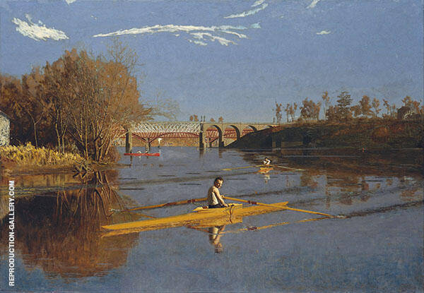 The Champion Single Sculls Painting By Thomas Eakins