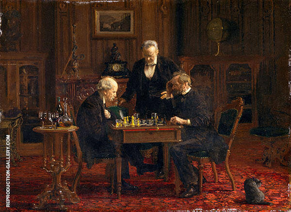 The Chess Players Painting By Thomas Eakins - Reproduction Gallery