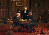 The Chess Players By Thomas Eakins