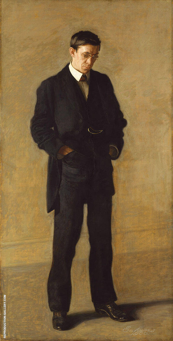 The Thinker Portrait of Louis N.Kenton Painting By Thomas Eakins