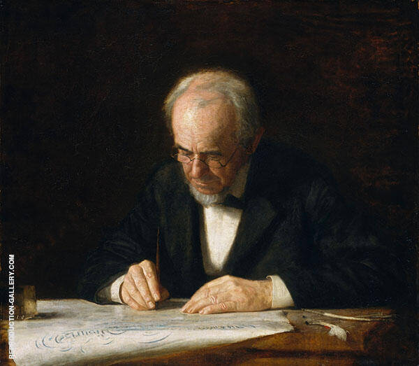 The Writing Master 1882 Painting By Thomas Eakins - Reproduction Gallery