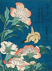 Peonies and Canary By Katsushika Hokusai