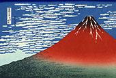 Red Fuji Southern Wind Clear Morning By Katsushika Hokusai