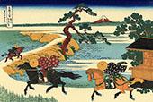 Sekiya Villages on The Sumida River By Katsushika Hokusai