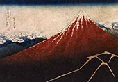 Storm Below The Mountain Fuji above The Lightning By Katsushika Hokusai