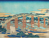 The Japanese Bridge By Katsushika Hokusai