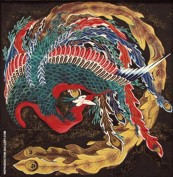 The Phoenix By Katsushika Hokusai