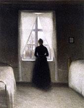 Bedroom 1890 By Vihelm Hammershoi