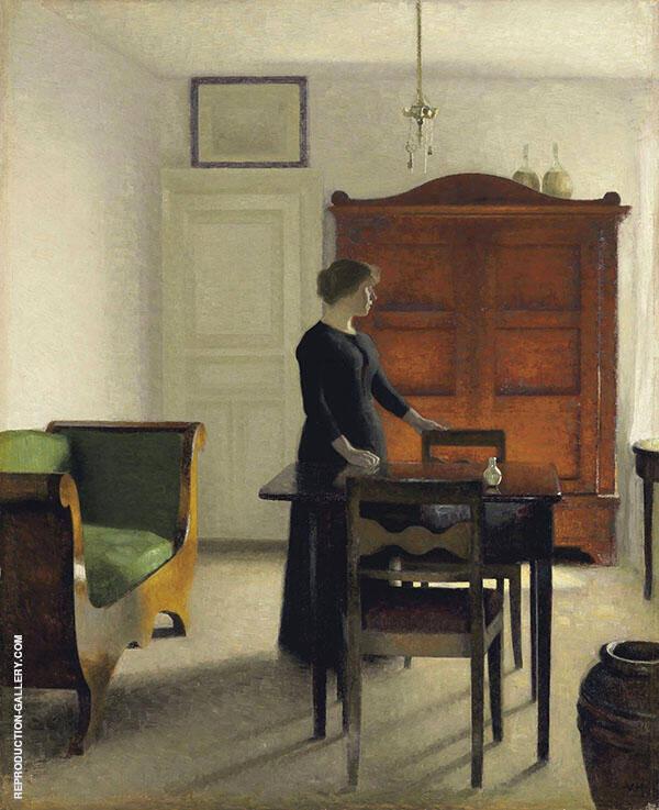 Ida in an Interior By Vihelm Hammershoi