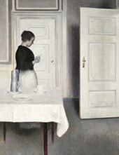 Ida Reading a Letter By Vihelm Hammershoi