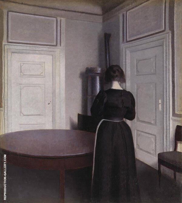 Interior 1899 By Vihelm Hammershoi