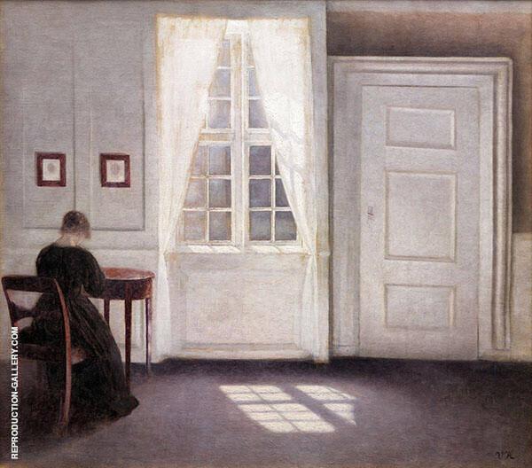 Interior in Strandgade Sunlight on The Floor 1901 By Vihelm Hammershoi