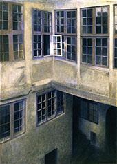 Interior of Courtyard Strandgade By Vihelm Hammershoi