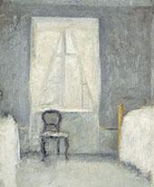 Interior Sovekammer 1890 By Vihelm Hammershoi