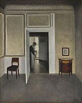 Interior Strandgade 1902 By Vihelm Hammershoi