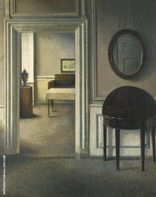Interior with a Mirror c1907 By Vihelm Hammershoi