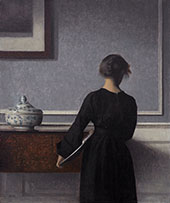 Interior with Young Woman Seen from The Back 1903 By Vihelm Hammershoi