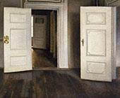 Open Doors 1906 By Vihelm Hammershoi