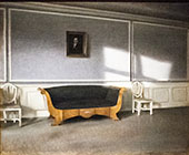 Subshine in The Drawing Room By Vihelm Hammershoi