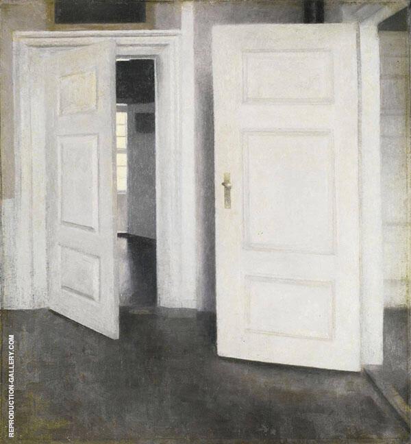 White Doors By Vihelm Hammershoi