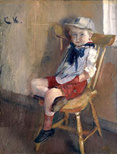 Boy in a Chair By Christian Krohg