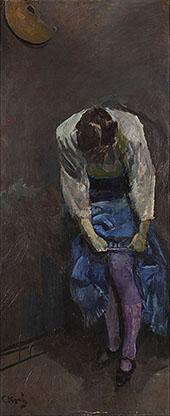 Girl Who Binds her Garter By Christian Krohg
