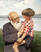Grandfathers Boy By Christian Krohg