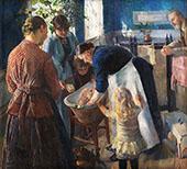 In The Bathtub 1889 By Christian Krohg