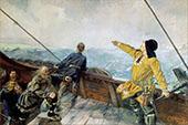 Leiv Eirikson Discovering America 1893 By Christian Krohg