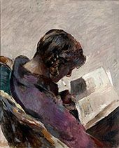 Lesende Pike Reading By Christian Krohg