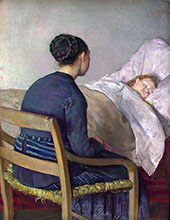 Mother at Her Childs Bed By Christian Krohg
