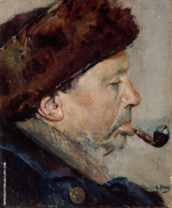 Nils Gaihede Painting By Christian Krohg - Reproduction Gallery
