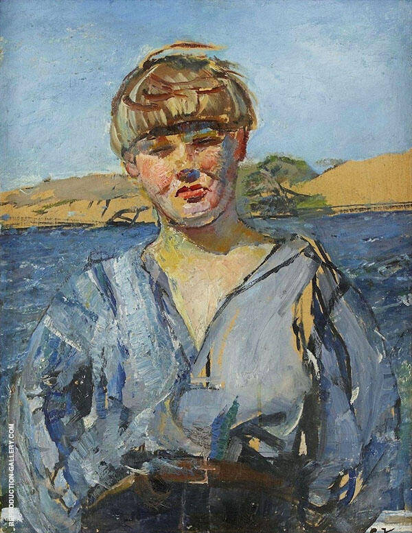 North Wind Painting By Christian Krohg - Reproduction Gallery