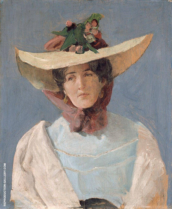 Portrait of The Actress Agnes Mowinckel Painting By Christian Krohg