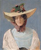 Portrait of The Actress Agnes Mowinckel By Christian Krohg