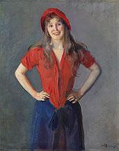 Portrait of The Painter Oda Krohg 1889 By Christian Krohg