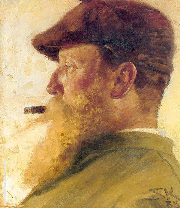 Christian Krohg Self Portrait Painting By Christian Krohg