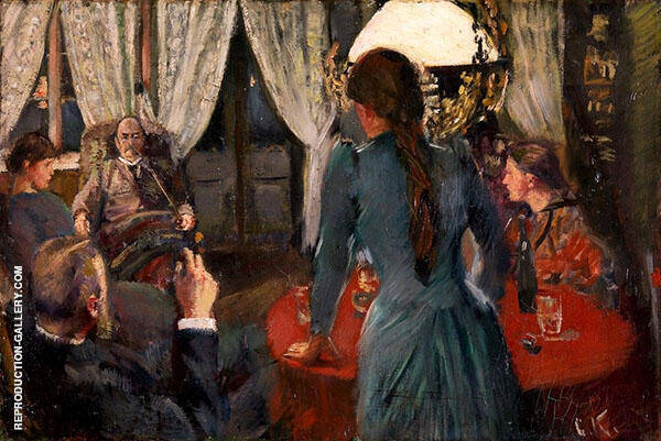 The Evening at Lokken Painting By Christian Krohg - Reproduction Gallery
