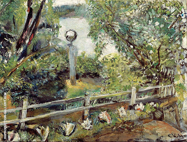 The Garden with The Glass Ball Painting By Christian Krohg