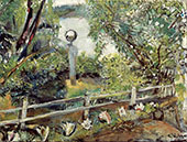 The Garden with The Glass Ball By Christian Krohg