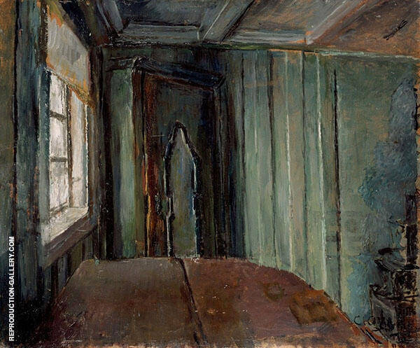 The Green Living Room Painting By Christian Krohg - Reproduction Gallery