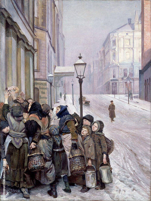 The Struggle for Existence 1889 Painting By Christian Krohg