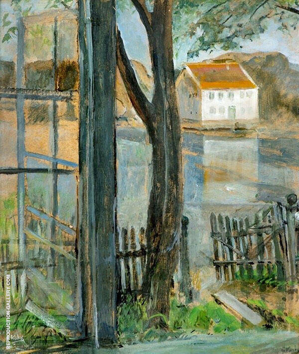 Through The Window By Christian Krohg
