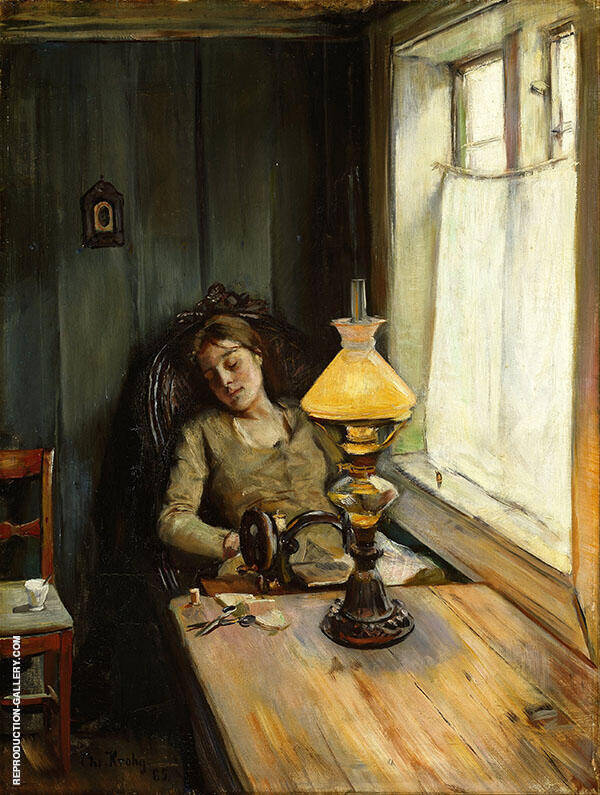 Tired Painting By Christian Krohg - Reproduction Gallery