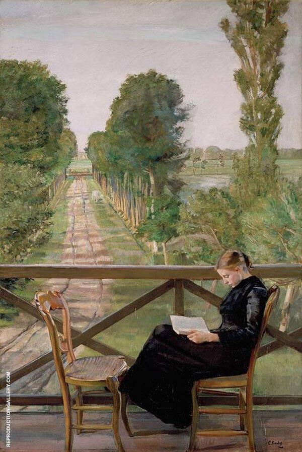 Villa Britannia Belgium Painting By Christian Krohg - Reproduction Gallery