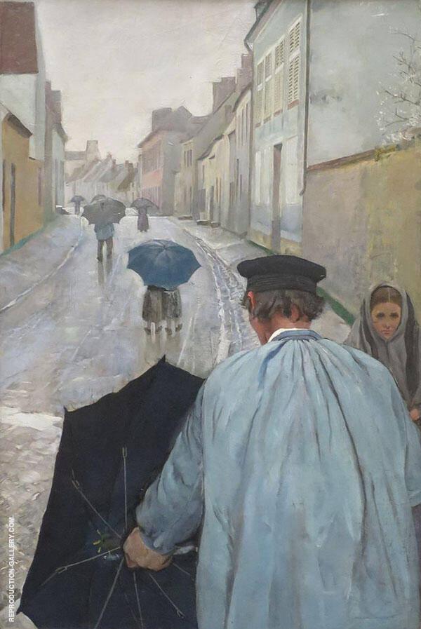 Village Street in Normandy By Christian Krohg