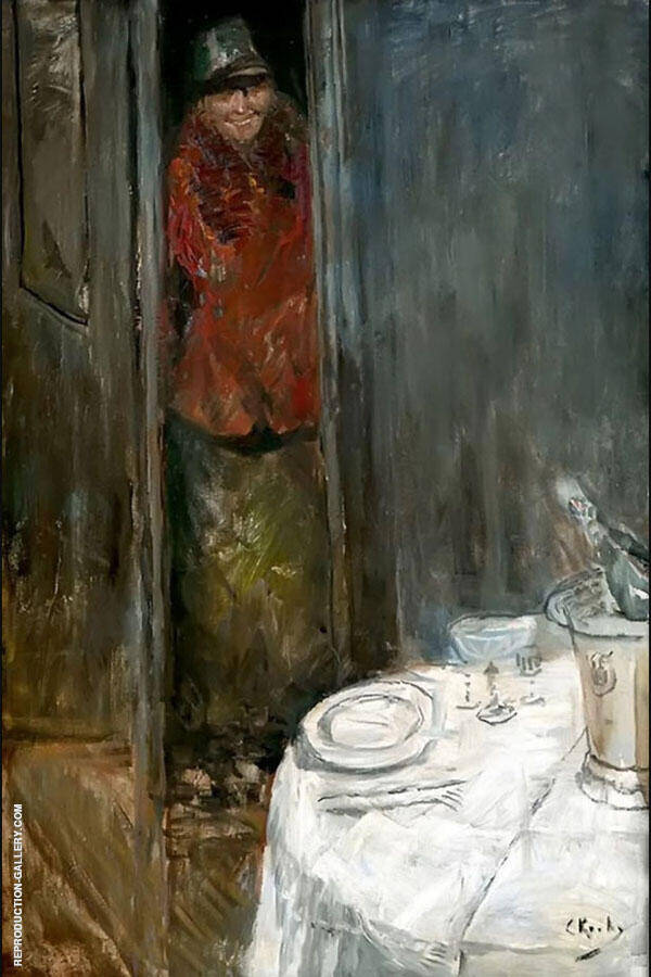 Welcome Painting By Christian Krohg - Reproduction Gallery