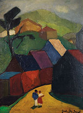 Couple in a Village By Gustave De Smet