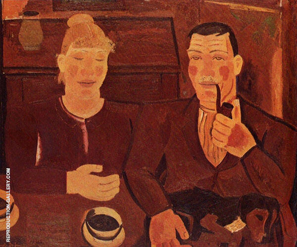 Farmer Couple By Gustave De Smet