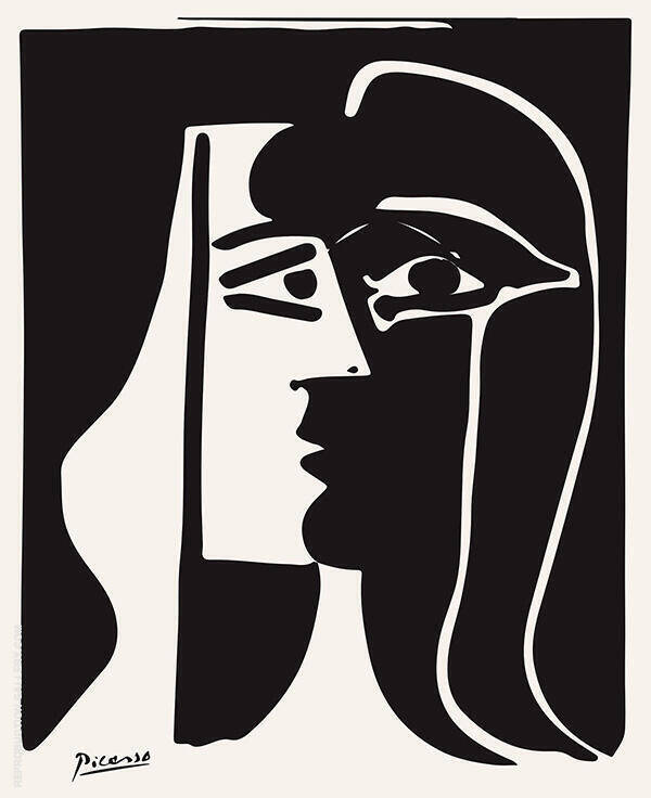 The Kiss 1979 Painting By Pablo Picasso - Reproduction Gallery